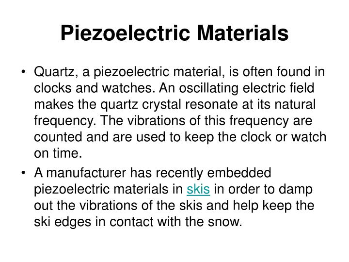 Piezoelectric Materials