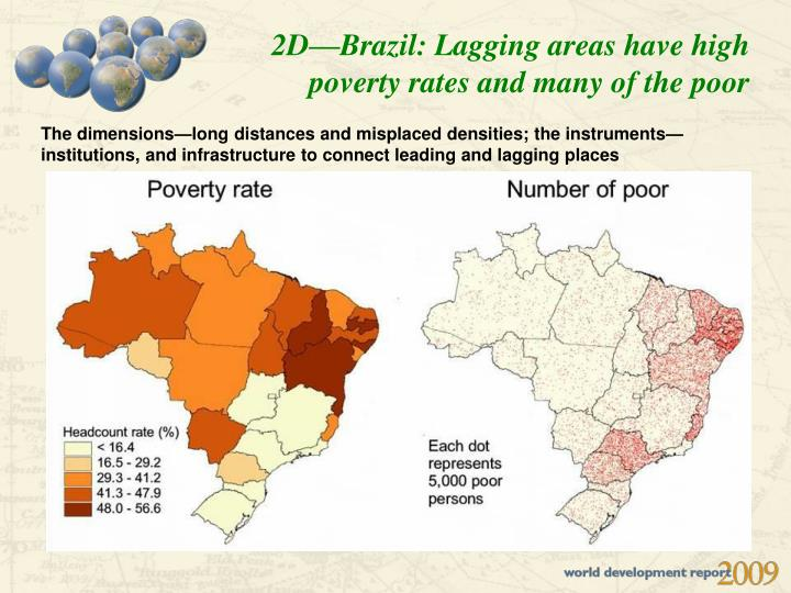 2D—Brazil: Lagging areas have high poverty rates and many of the poor