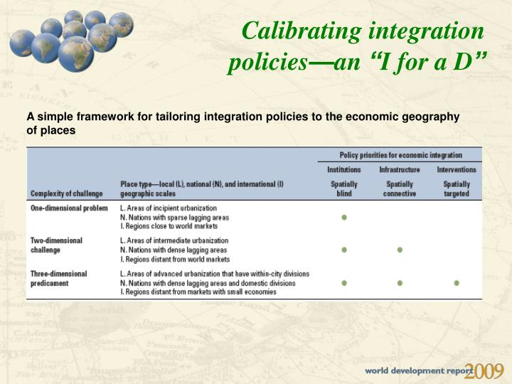 Calibrating integration policies