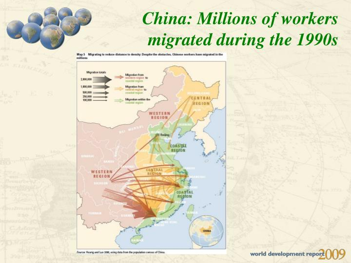China: Millions of workers migrated during the 1990s