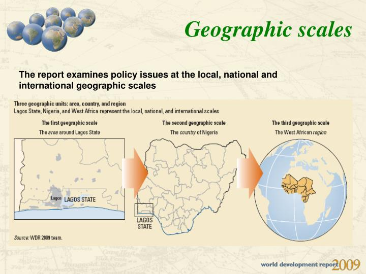 Geographic scales