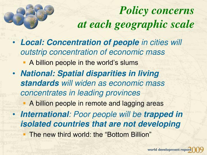 Policy concerns
