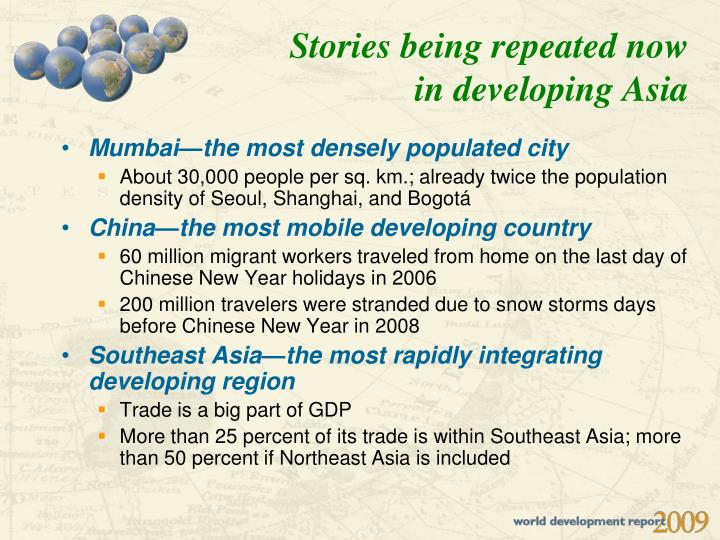 Stories being repeated now in developing Asia