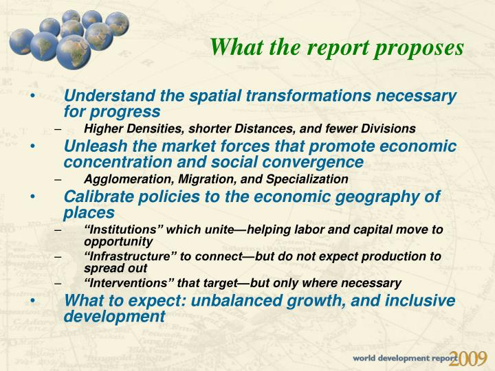 What the report proposes