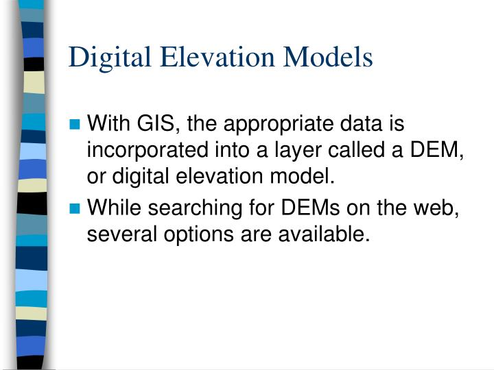 Digital elevation models