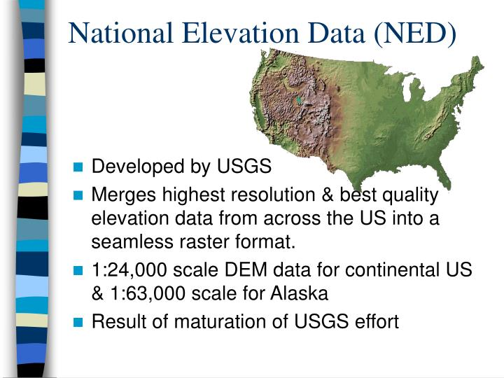 National Elevation Data (NED)
