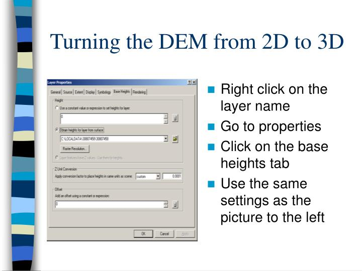 Turning the DEM from 2D to 3D