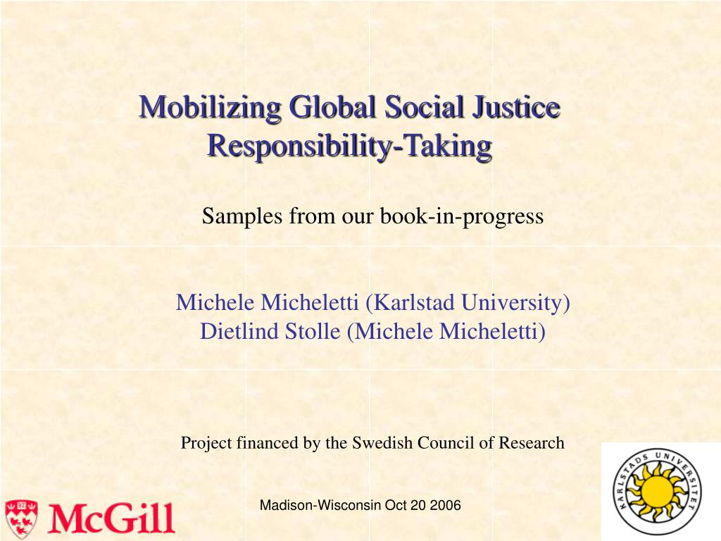 Mobilizing Global Social Justice Responsibility-Taking