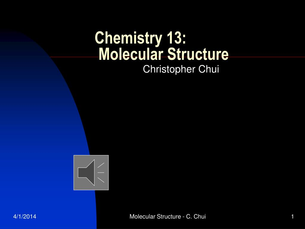chemistry 13 molecular structure