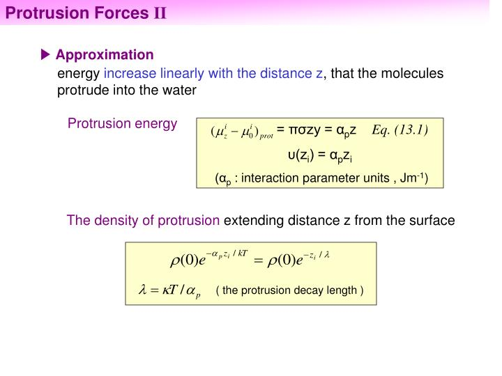 Protrusion Forces