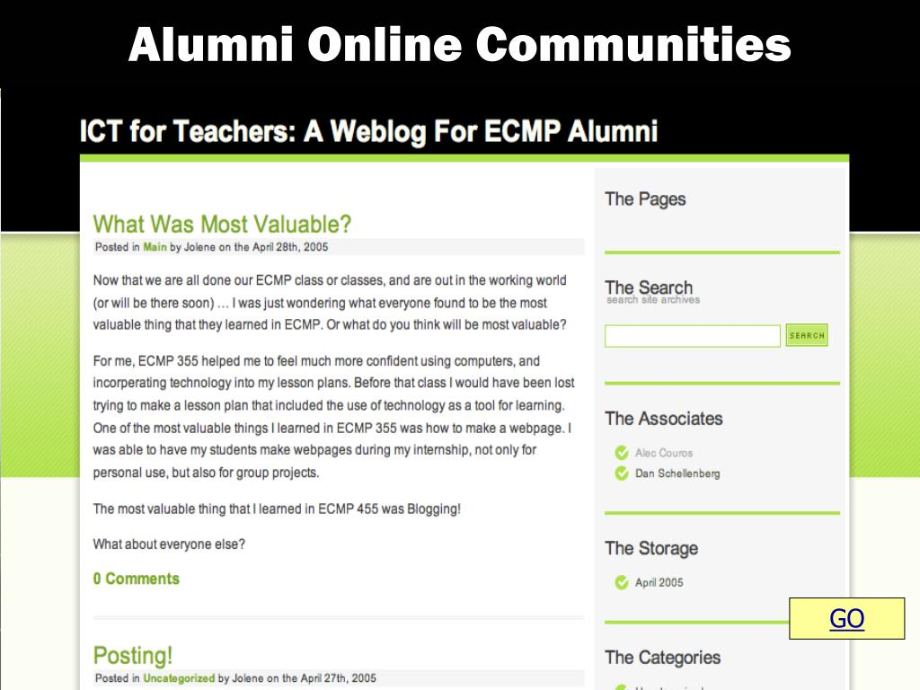 Alumni Online Communities