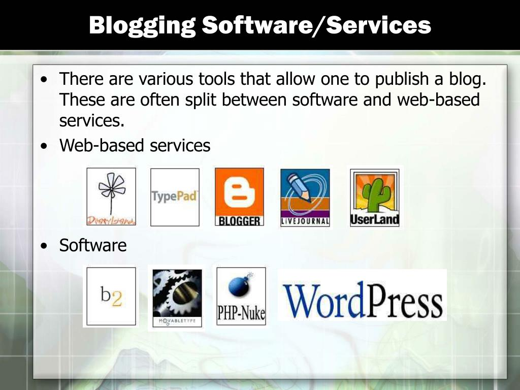 Blogging Software/Services
