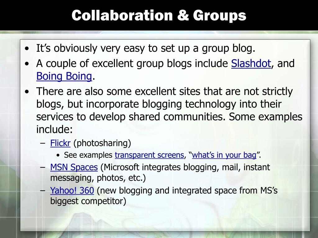 Collaboration & Groups