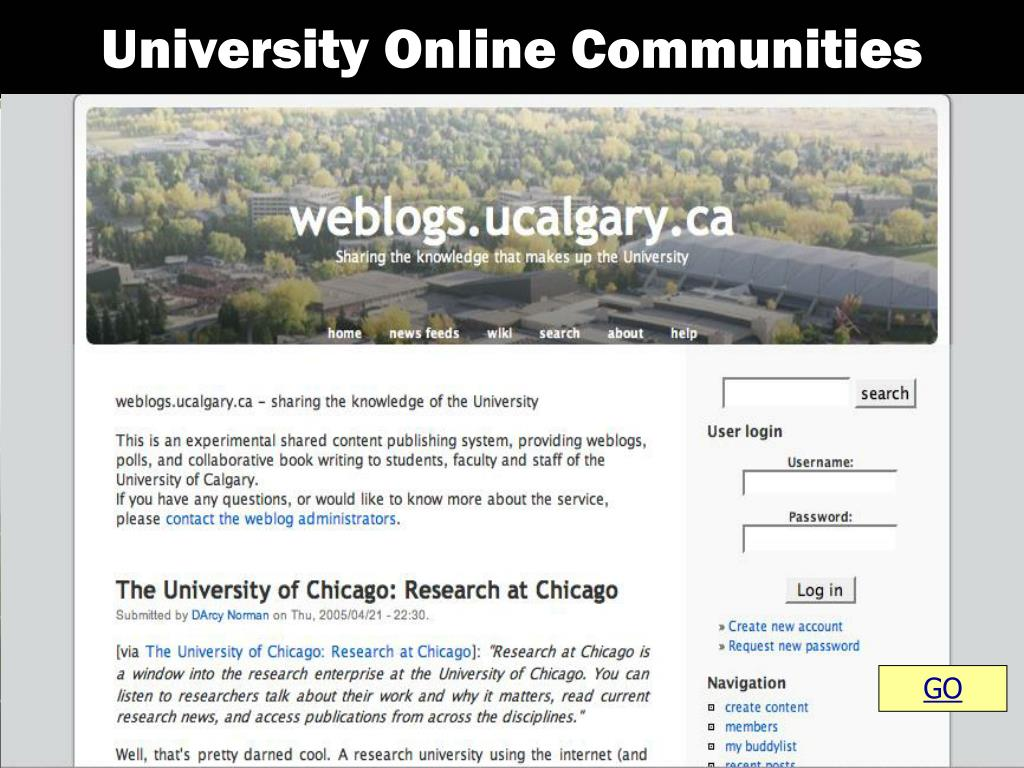 University Online Communities