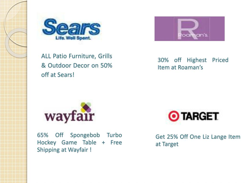 ALL Patio Furniture, Grills & Outdoor Decor on 50% off at Sears!