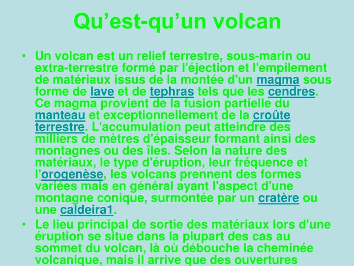 Qu'est-qu'un volcan
