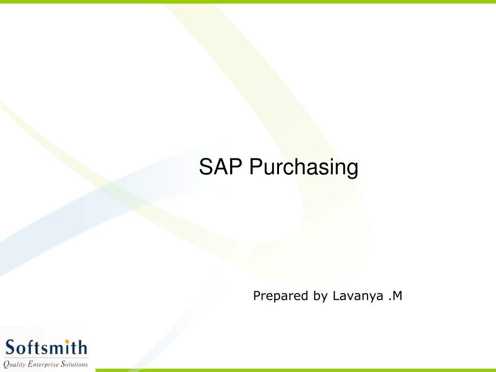 SAP Purchasing