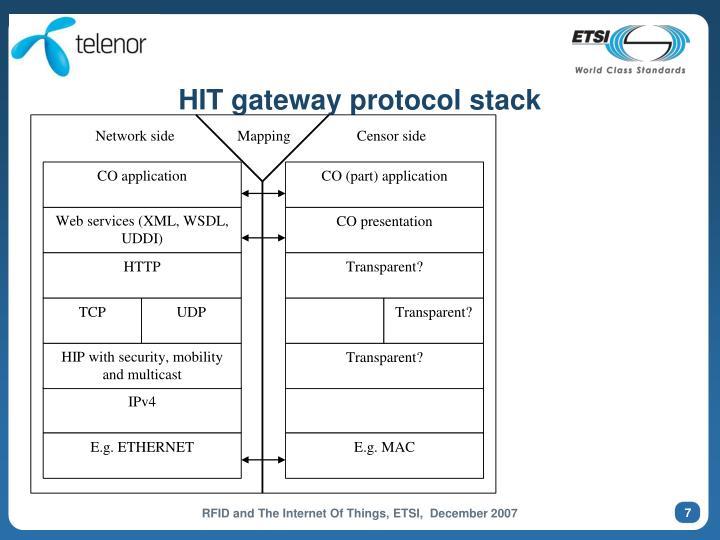 HIT gateway protocol stack