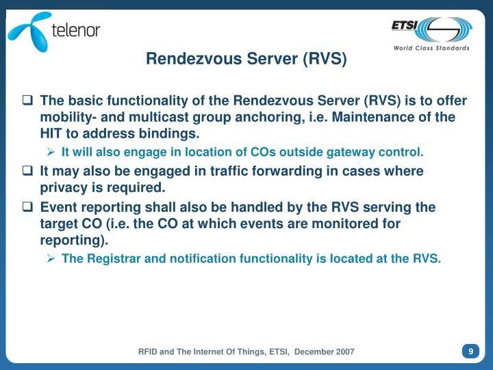 Rendezvous Server (RVS)
