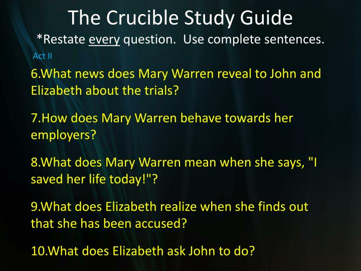 the crucible act 3 study guide pdf