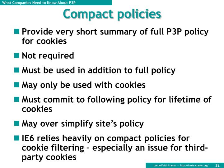 Compact policies