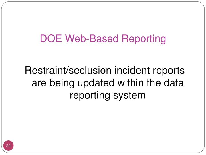 DOE Web-Based Reporting