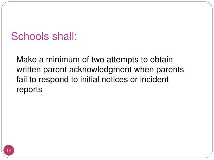Schools shall: