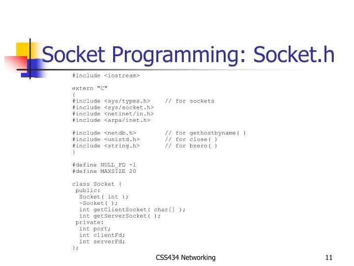 Socket Programming: Socket.h