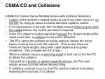 csma cd and collisions