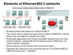 elements of ethernet 802 3 networks