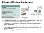 ethernet 802 3 lan development