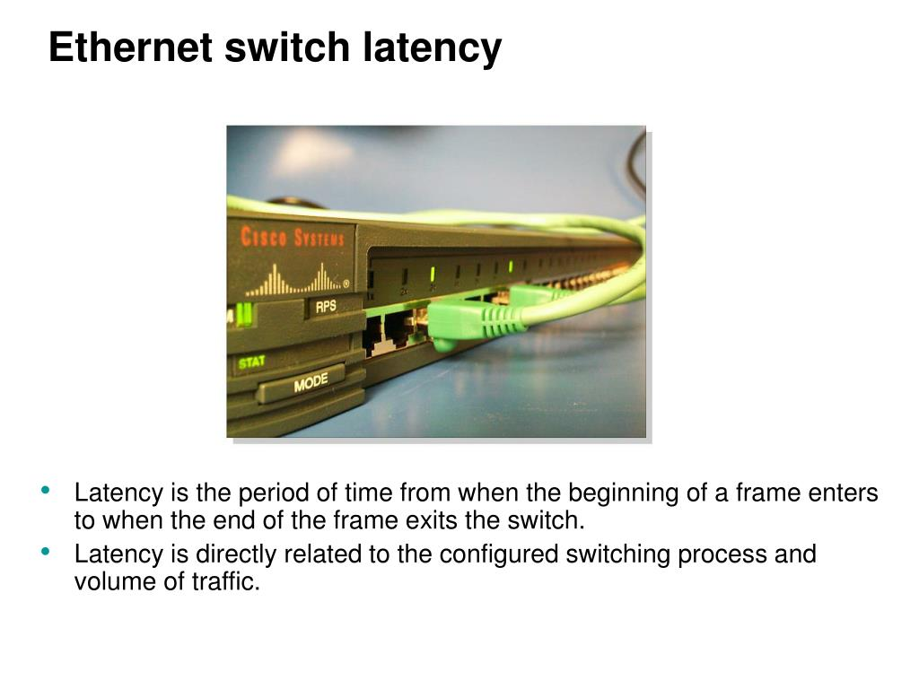 Ethernet switch latency