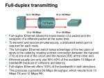 full duplex transmitting