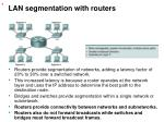 lan segmentation with routers