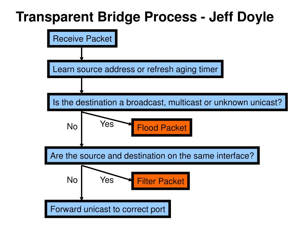 Transparent Bridge Process - Jeff Doyle