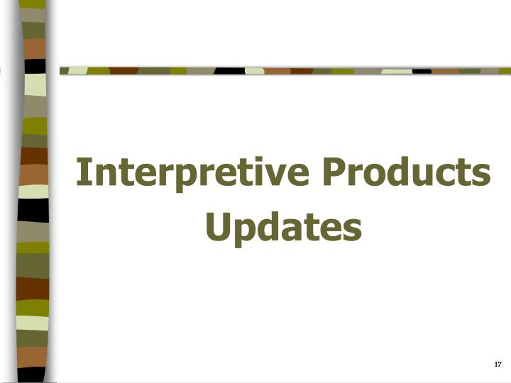 Interpretive Products