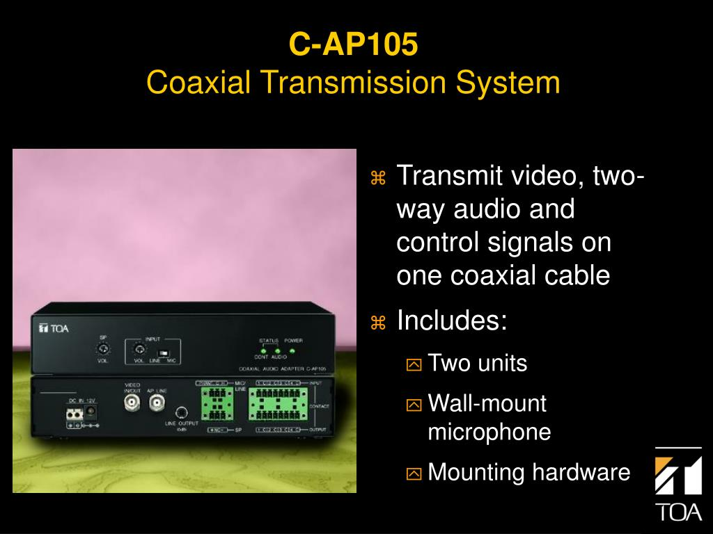 Transmit video, two-way audio and control signals on one coaxial cable