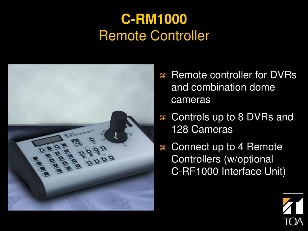 Remote controller for DVRs and combination dome cameras