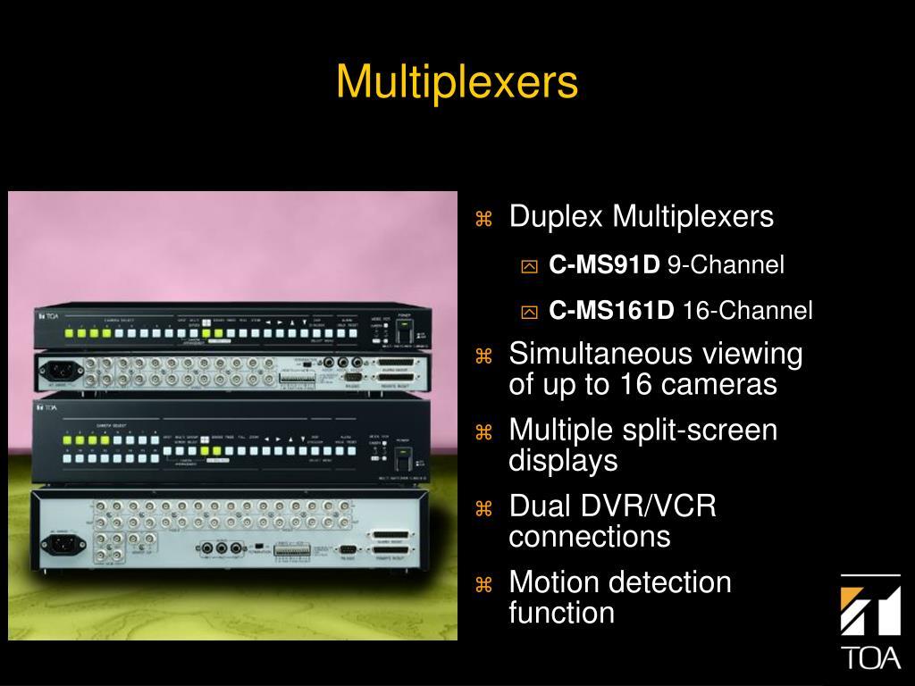 Duplex Multiplexers