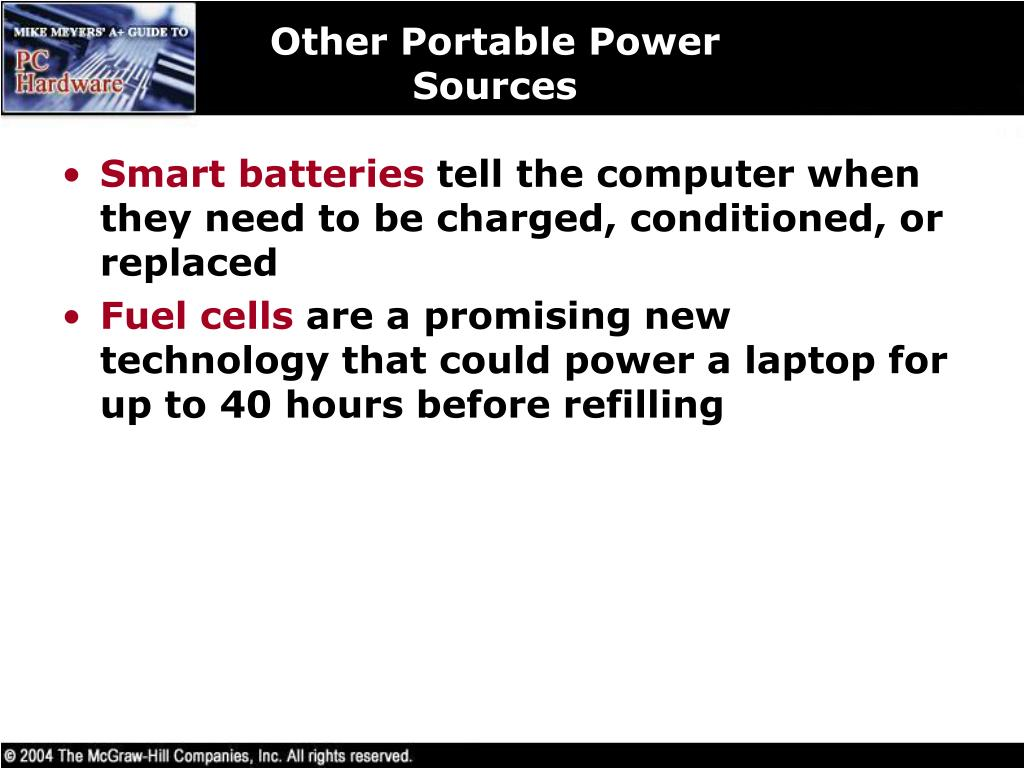 Other Portable Power Sources