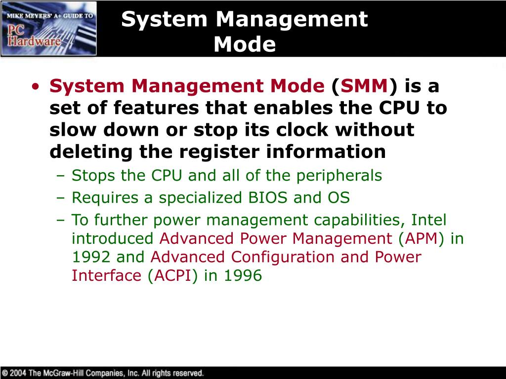 System Management Mode