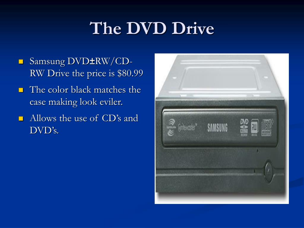 The DVD Drive