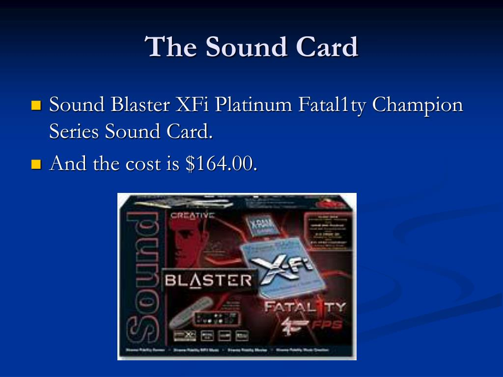 The Sound Card