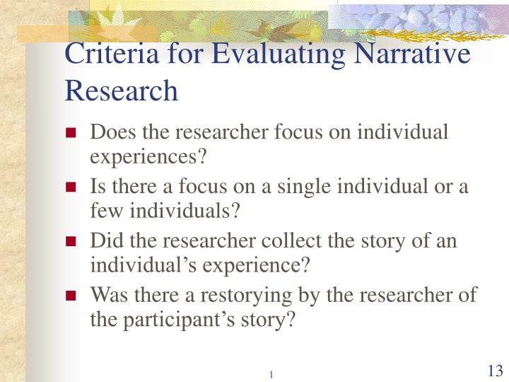 criteria in evaluating research problem Evaluating research judgement unfolds into different types of problems conceptual elements and specific criteria used in evaluating research excel.
