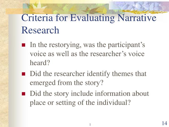 criteria for evaluating a research paper