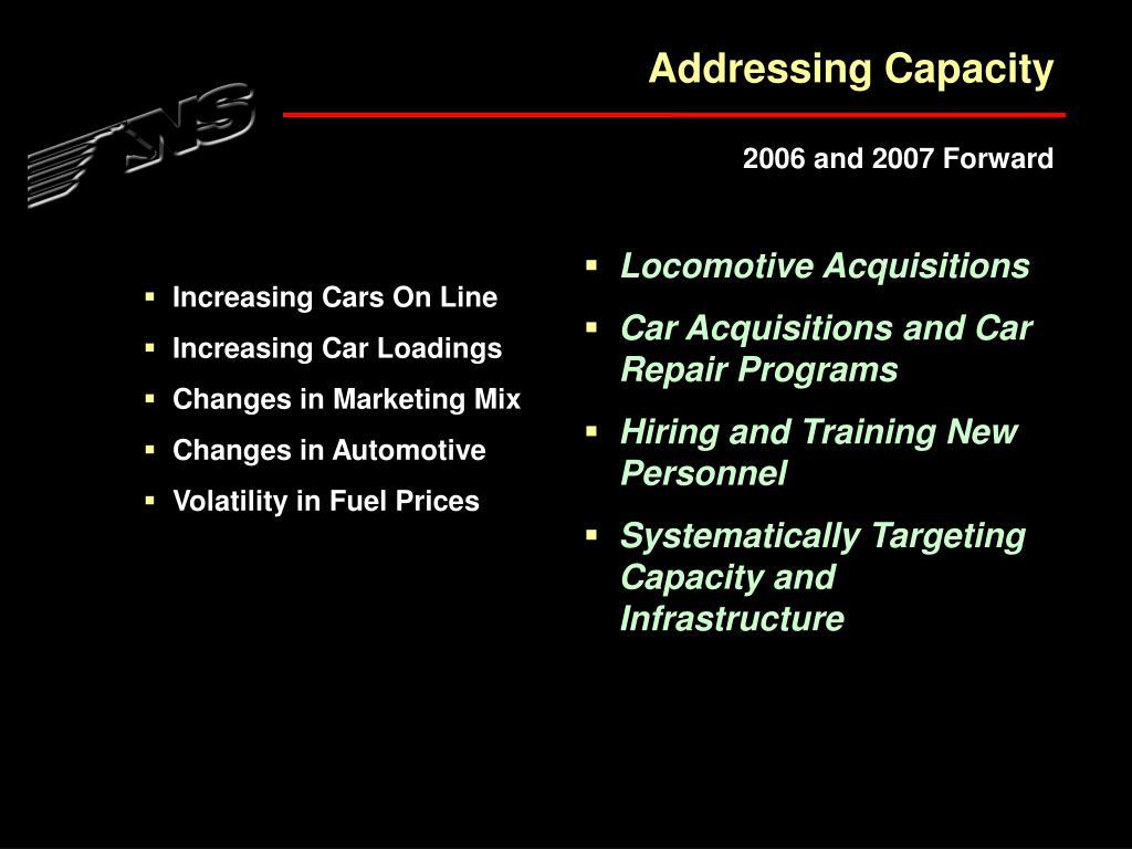 Addressing Capacity