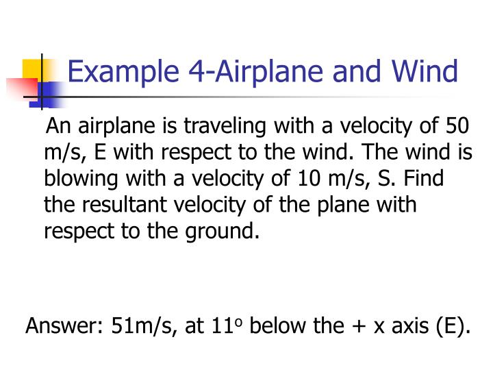 What is a example of a vector quantity