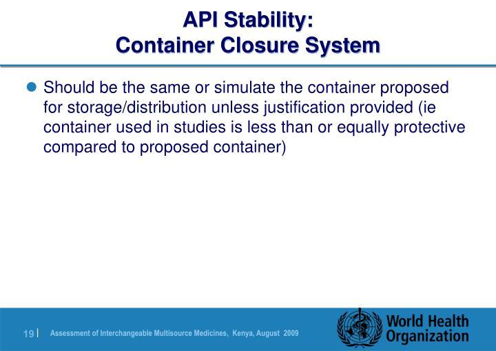 API Stability:
