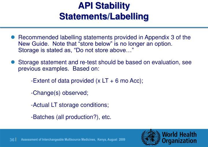 API Stability