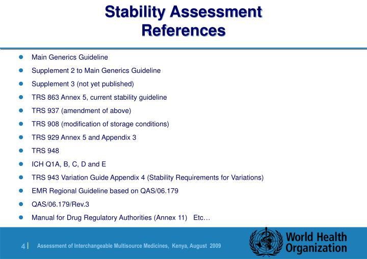 Stability Assessment